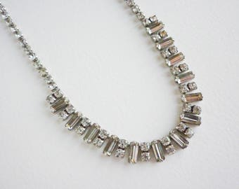 1940s paste riviera necklace