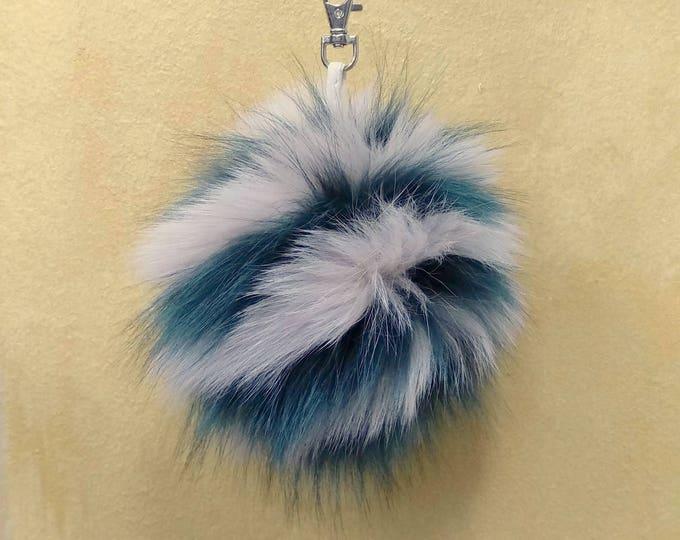 Fox Fur Pom Pom, Bag Pom Pom,Fur keychain F623