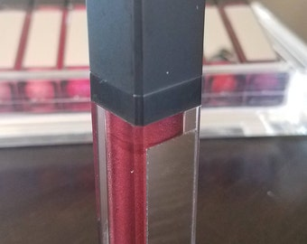 Discipline - Mirror Container Tube - All Natural Lip Gloss, Stunning deep burgundy color and shine.