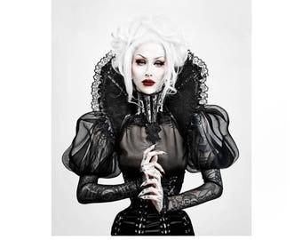 Haute gothic lace collar- gothic collar-Vampire collar-WGT-Halloween-collar-collar-stand up collar