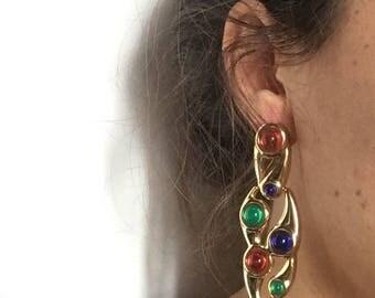 Vintage years ' 80 beautiful dangling earrings