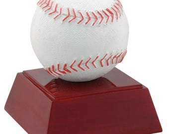 Color Baseball Resin Award - Baseball Trophy - Free Personalization