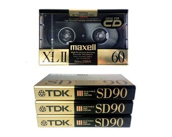 Lot of 3 TDK SD 90 Blank Audio Cassette Japan New Sealed NOS 1986