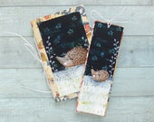Hedgehog Night stationery set. Hand painted. Notebook. Bookmark. Cute animals. Gift for her
