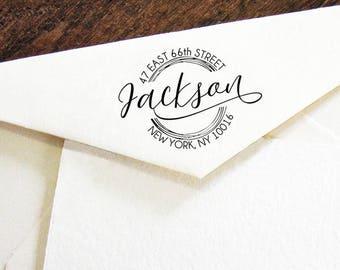 Personalized Self Inking Return Address Stamp - self inking address stamp - Custom Rubber Stamp