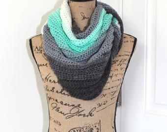 Handmade Crochet Doven Shawl, Lion Brand Mandala Yarn in Genie