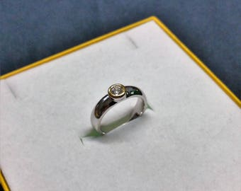 18 mm ring 925 Silver Crystal stone vintage SR952