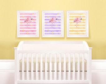 Animal Nursery Set | Flamingo Nursery, Flamingo Wall Art, Flamingo Printable, Flamingo Clip Art, Flamingo Print, Flamingo Art Nursery Bundle