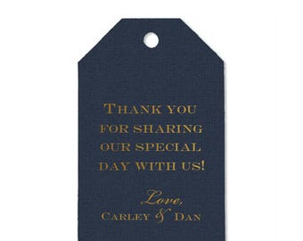 Monogrammed Personalized Wedding Favor Tags