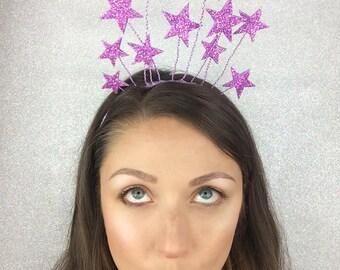 Star Crown, New Year's Headpiece Pink, Kids Headband by ENNA