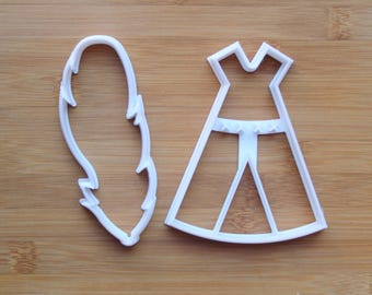 Teepee Tent & Feather Set 3D Printed Cookie Cutter