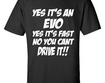 Evo Shirt - Lancer Evolution Shirt -   Mitsubishi Evo T-Shirt