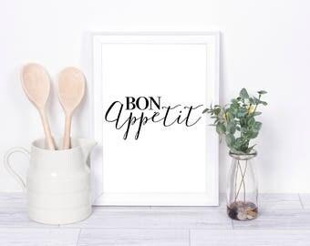Bon Appetit, Kitchen Print