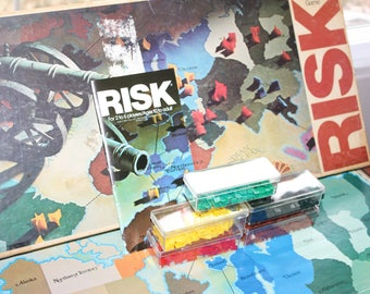 1980 Risk Parker Brothers World Conquest Game -- Military Strategy, Armies -- Board Game, War Game, Gaming