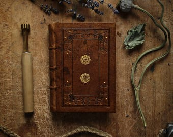 Stalwart Journal of August 14th 2017 - A Small Handmade Leatherbound Journal, Tooled in Blind and with Gold