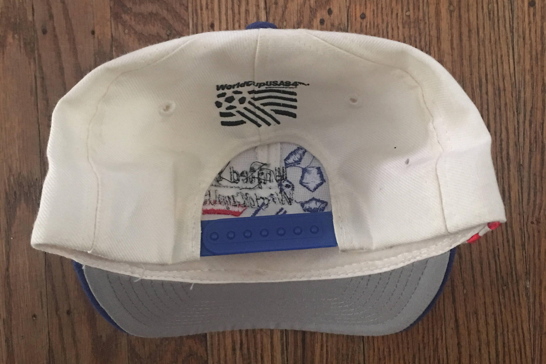 055fa5da27a Vintage 90s World Cup 1994 USA Soccer Snapback Hat Baseball Cap ...