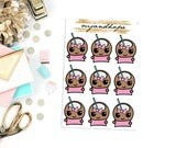 Coco with Labels| CC8 | Planner Stickers