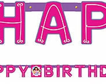 Dora the Explorer ''Dora and Friends'' Happy Birthday Banner 7ft