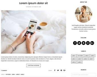 Blogger Template Responsive, Blogger Theme, Premade Blogger Templates, Blogspot Template Minimal, Blogger Blog - Velvet