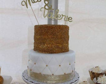 Personalize Wedding Cake Topper - Décoration gateau de mariage
