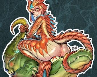 Kaijuu Attack! Kinky Cuties Stiker!