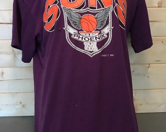Vintage 1990's Phoenix Suns Logo 7 50/50 T-Shirt