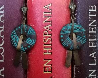 Ashanti Earrings. Tribal earrings. Ethnic earrings.