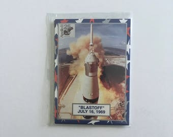 Apollo 11 Moon Landing Trading Card Set, 25th Anniversary Citgo Cards, Mint in Cellophane, Moon Mission, Astronauts, Ships Free in U.S.