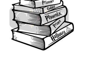Stack of Books svg cut file