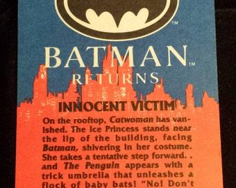 "Vintage 1992 Topps Batman Returns Trading Card, ""Innocent Victim"" #52"
