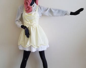 Fluttershy Cosplay, Yellow Lolita Dress with Bow