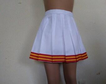 New Version Song Girls White Cheerleader Uniform Football Game Halloween Costume Skirt