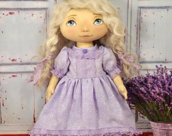 Fairy princess doll, Princess doll, Fairy doll, Decorative doll, Textile doll, Rag doll, OOAK art doll, Soft doll, OOAK doll, Doll cotton