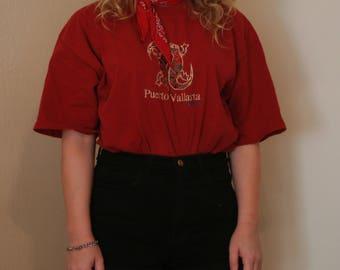 Vintage embroidered Puerto Vallarta tshirt