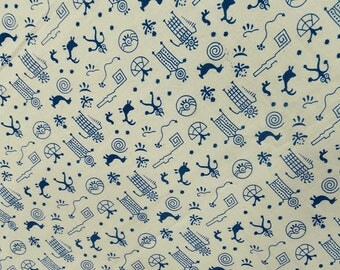 """White Fabric, Tribal Print, Dress Fabric, Sewing Crafts Accessories, Decor Fabric, 47"""" Inch Cotton Fabric By The Yard ZBC7011C"""