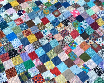 Vintage Handmade Patchwork Quilt, Throw, Cover, Blanket
