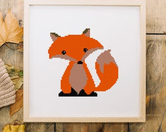 Raccoon cross stitch pattern pdf, Modern embroidery pattern,Animal wall art #38