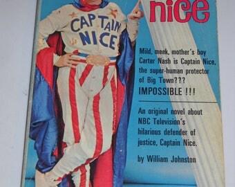 1967 Captain Nice TV tie-in series vintage paperback book by William Johnston