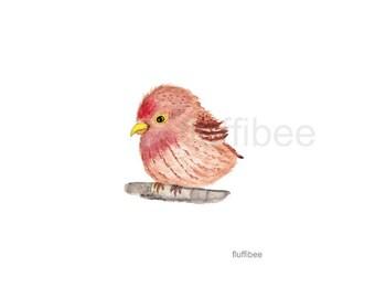 Watercolor birds, baby bird, bird prints, bird painting, bird watercolor, bird nursery, bird art, bird decor, bird gift, baby redpoll
