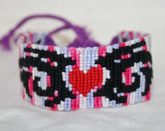Tribal Heart Valentine Friendship Bracelet