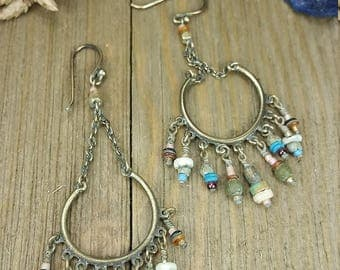 Vintage Beaded Chandelier Earrings