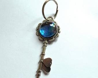 Keychain, charm, blue