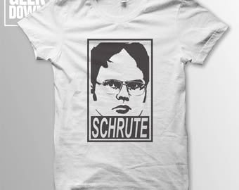 Dwight Schrute *The Office* *Obey* t-shirt tee // funny t-shirts / t-shirt funny / Schrute Farms / Dunder Mifflin / Michael Scott