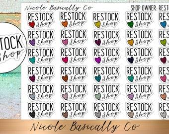 Shop Owner- Restock Shop Planner Stickers