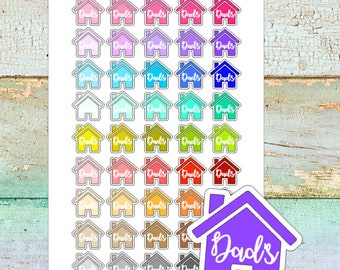 Dads House Planner Stickers