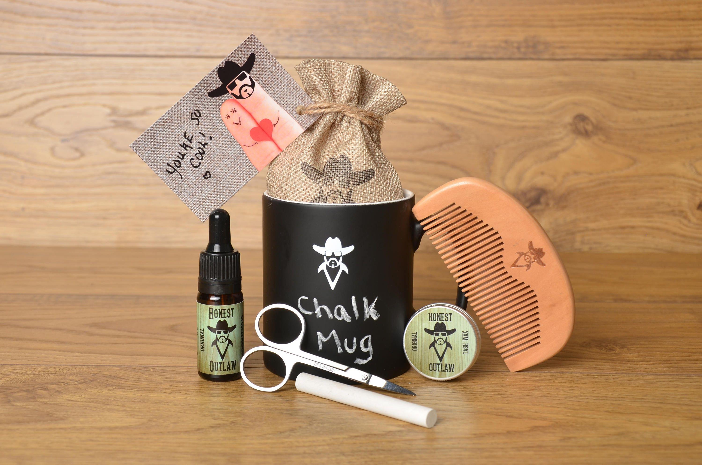 chalkboard mug beard grooming kit gift set beard oil. Black Bedroom Furniture Sets. Home Design Ideas