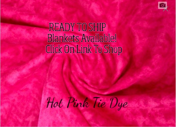 Solid Color, Weighted Blanket, Hot Pink Tie Dye, Up to Twin Size 3 to 15 Pounds.  SPD, Autism, Weighted Blanket.