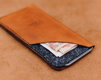 Leather Case With Wool Pocket Ror Samsung Galaxy S8