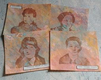 Set 4: Altered Hand Stamped Envelopes
