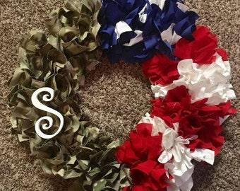 Patriotic Wreath - Army
